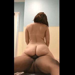 Cheating Phatassed wife rides her black bf