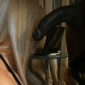 Gorgeous Blonde Gets Fucked by Big Black Dick