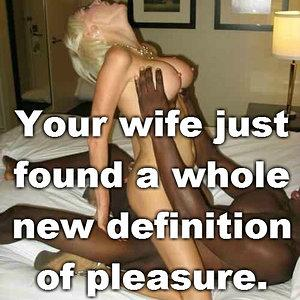 A white woman's true definition of pleasure!