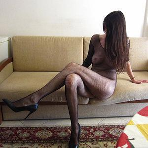 My wife Gina in bodystockings