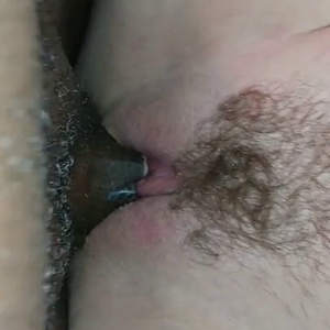 Long Creamy BBC bare white pussy