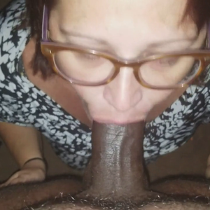 Housewife on her knees black cock worshipping