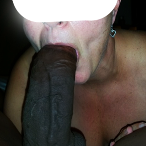 Giving her a mouthful!
