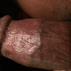 a little cream after fucking my white slut