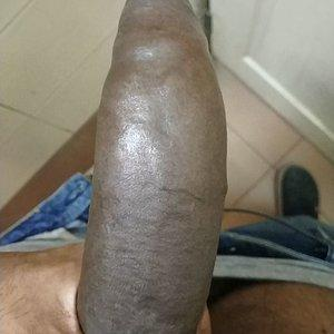 Fat long monster cock! Gag on it