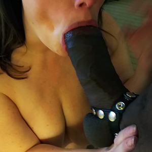 BBC slut showing me how much of this Magnum cock she can take in...