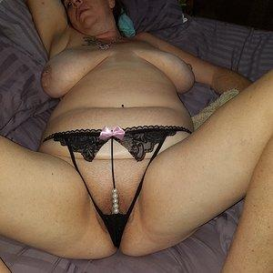 Black Lace Pearl Panties 1