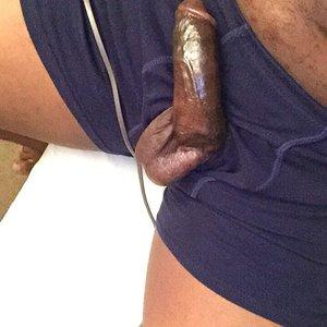 Juicy raw black meat