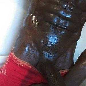 Oiled up and ready for action..