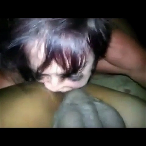 MILF Sucks off  Black Dick