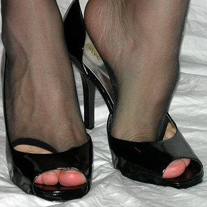 Open toe nylon
