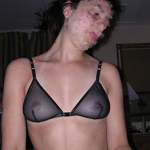 See through bra and nipples