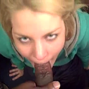 Young Woman gets a facefull , of BBC Seed