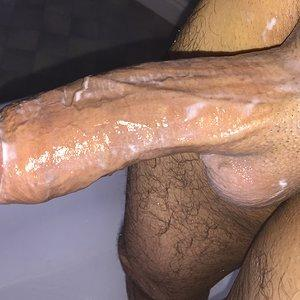 Lotion on cock