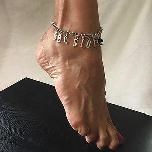 BBC SLUT Anklet with spade charm