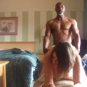 Black man fucks silly white girl
