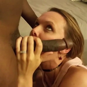 Sexy wife, warming up black cock