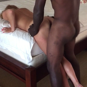 Baby girl awoken by a monster black cock