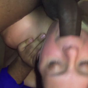 Interracial threesome sex