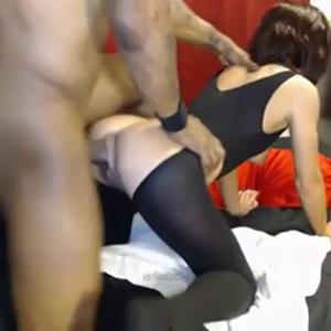 skinny girl gets monster black cock creampie