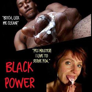 Lick Your Black Master Clean Bitch.