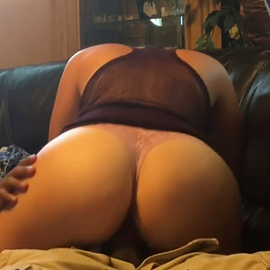Blonde riding black cock on the couch