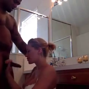 Sexy blonde drilled hard by big black cock