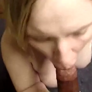 A white woman likes black cum