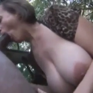Busty wife outdoors fucking